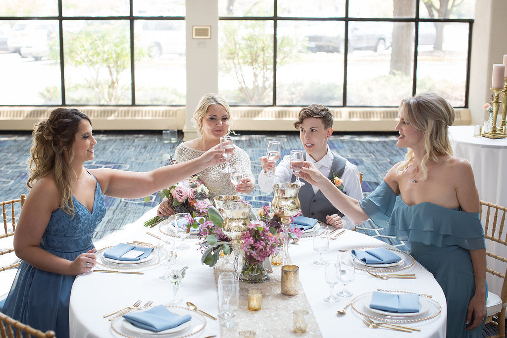 Kennedy Blue mismatched bridesmaids