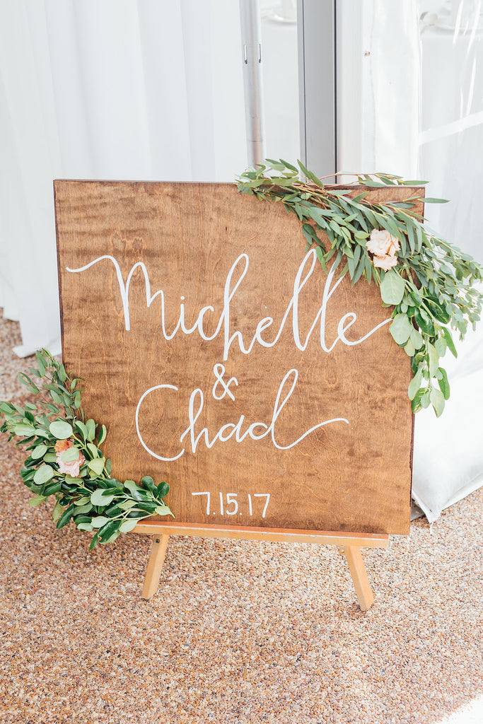 Cute wedding sign! | A Simple & Stunning Sage Wedding | Kennedy Blue | Rachel Figueroa Photography
