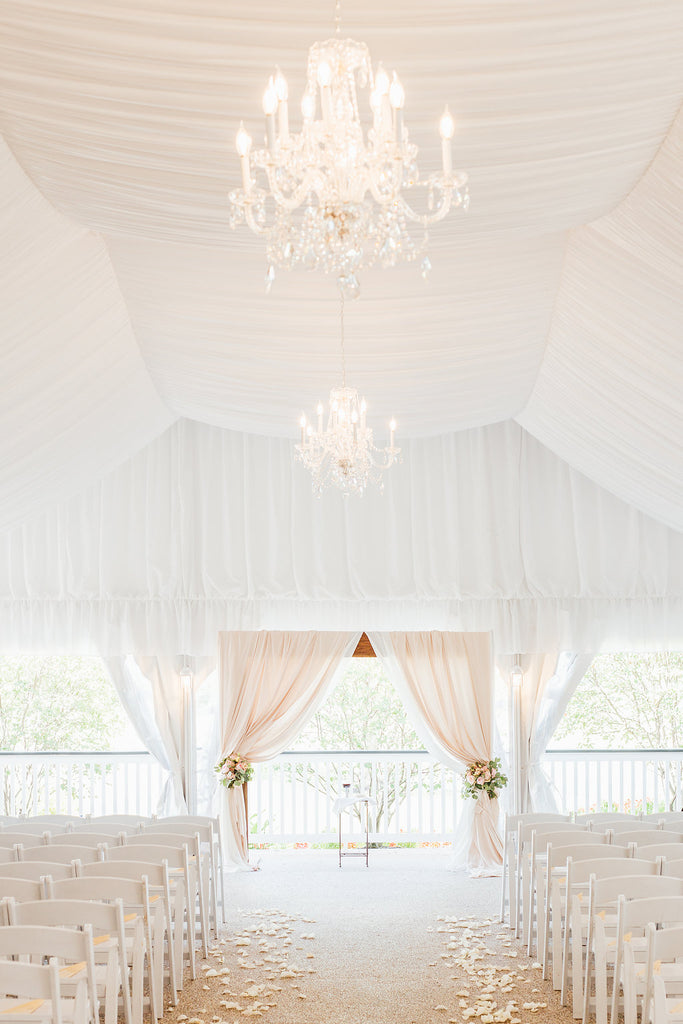 This wedding ceremony venue is beautiful! | A Simple & Stunning Sage Wedding | Kennedy Blue | Rachel Figueroa Photography