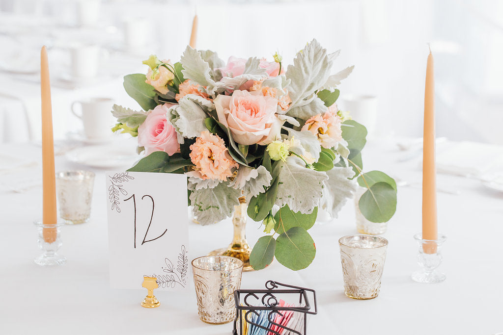 Wedding table decor! | A Simple & Stunning Sage Wedding | Kennedy Blue | Rachel Figueroa Photography