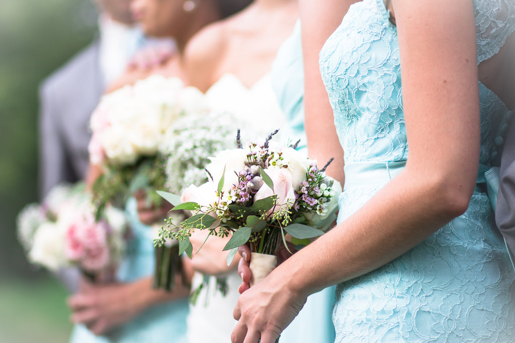 Style your 'maids in mint dresses for a trendy spring wedding look. | 2015 Spring Bridesmaid Dresses
