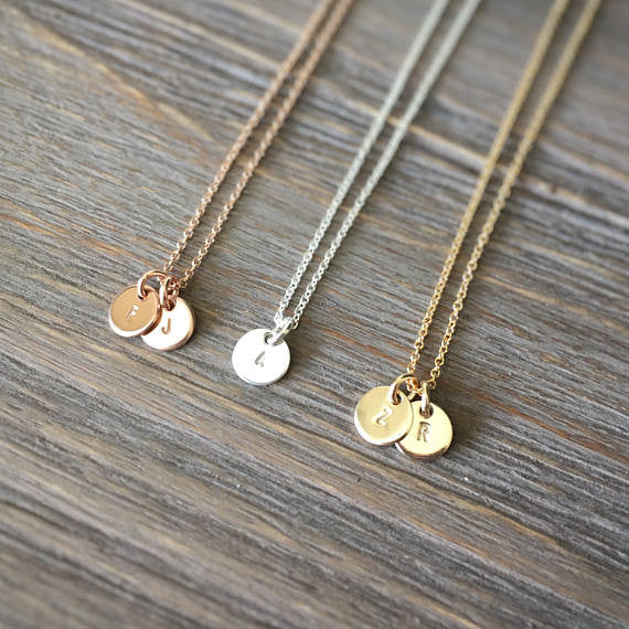 e79145e5055 Personalized necklaces are perfect for accessorizing your bridesmaid dresses