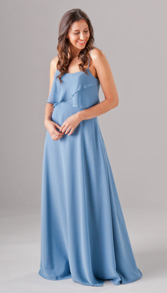 Isabella is a beautiful ruffled bridesmaid dress from Kennedy Blue | Kennedy Blue