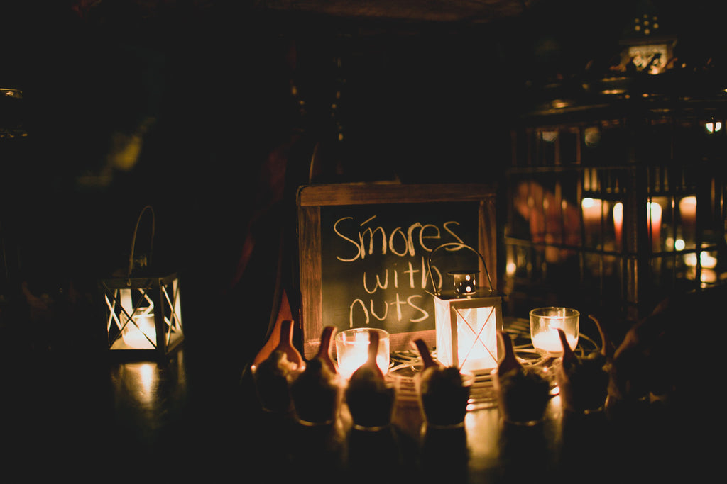 A Smore's Station | A Barn Wedding So Gorgeous, You Have to See It to Believe It | www.KennedyBlue.com