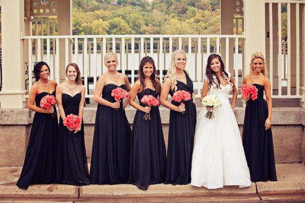 Kennedy Blue bridesmaid dresses in navy. | A Fall Wedding Filled With Elegance and Style