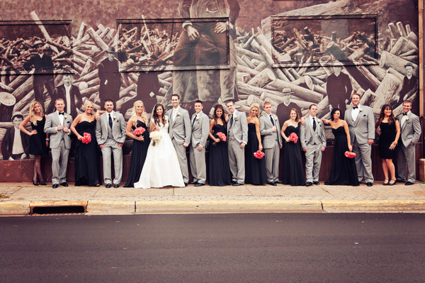 The full wedding party. | A Fall Wedding Filled With Elegance and Style