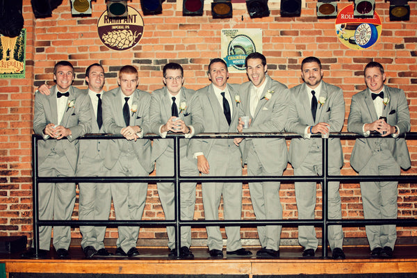A fun bar shot of the guys. | A Fall Wedding Filled With Elegance and Style