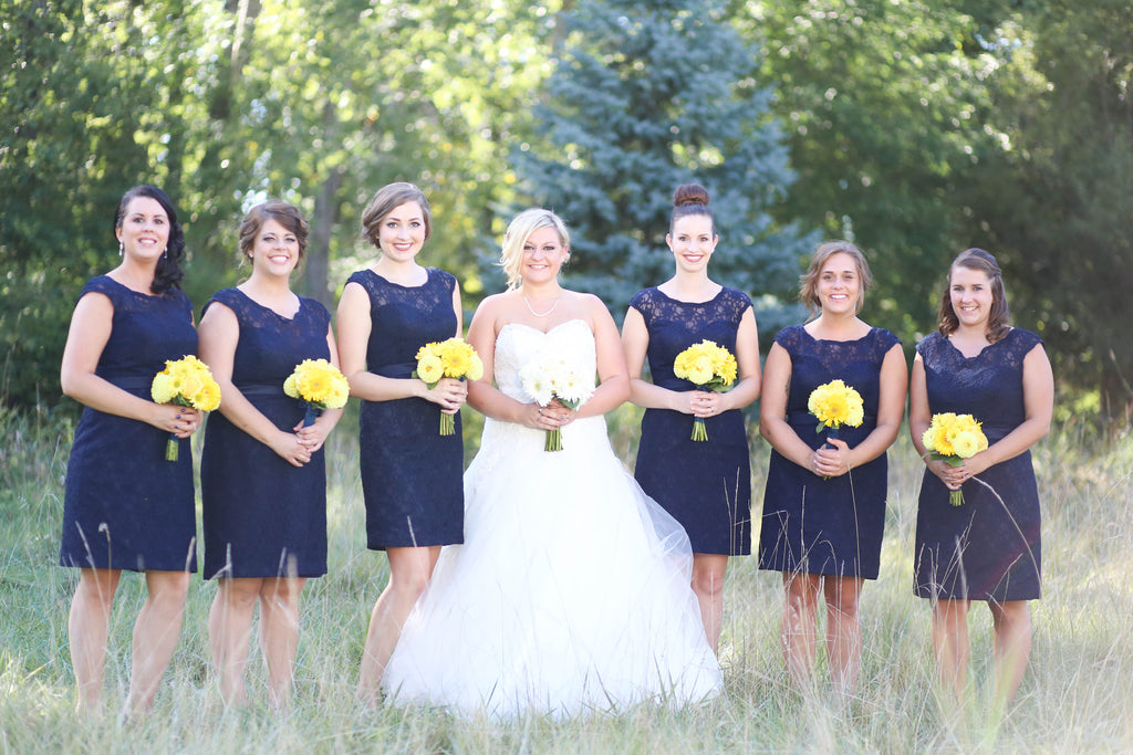 10 Beautiful Navy Bridal Parties Kennedy Blue