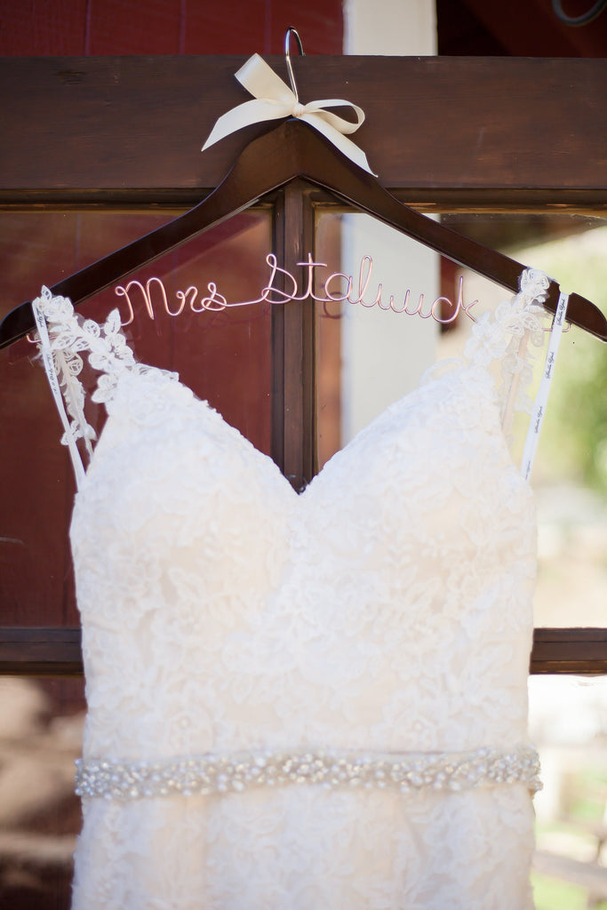 Look at this up close pic of the stunning bridal gown! | A Vintage Wedding At Sweet Pea Ranch | Kennedy Blue | Janelle Marina Photography