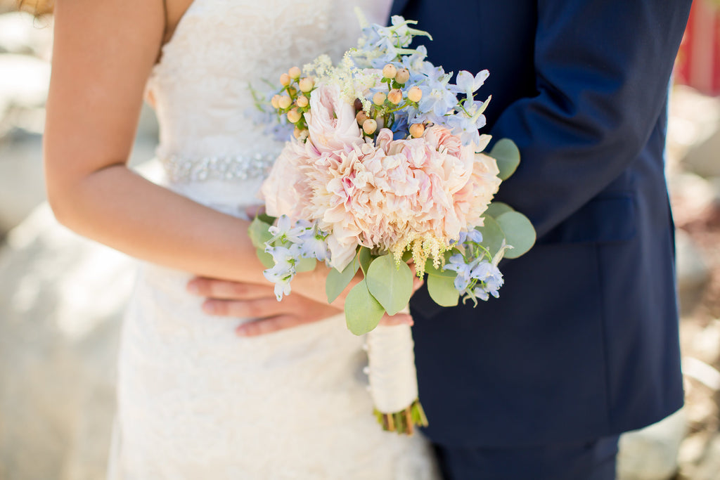 Beautiful wedding bouquet! | A Vintage Wedding At Sweet Pea Ranch | Kennedy Blue | Janelle Marina Photography