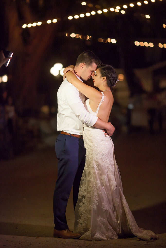 Bride and groom's first dance! | A Vintage Wedding At Sweet Pea Ranch | Kennedy Blue | Janelle Marina Photography