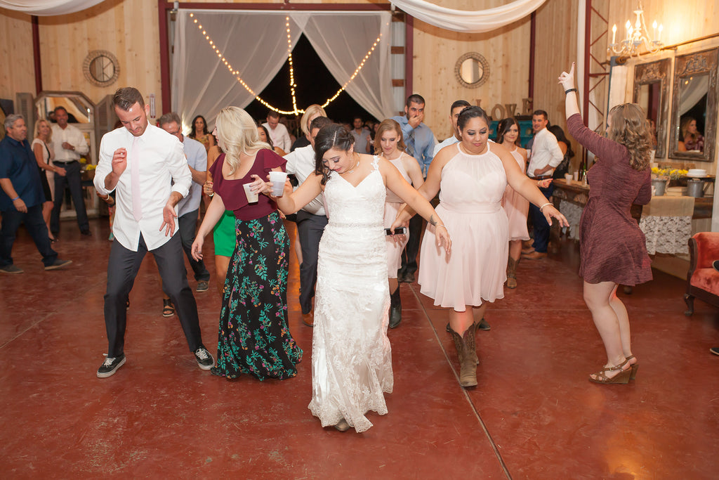 Dancing at the wedding! | A Vintage Wedding At Sweet Pea Ranch | Kennedy Blue | Janelle Marina Photography