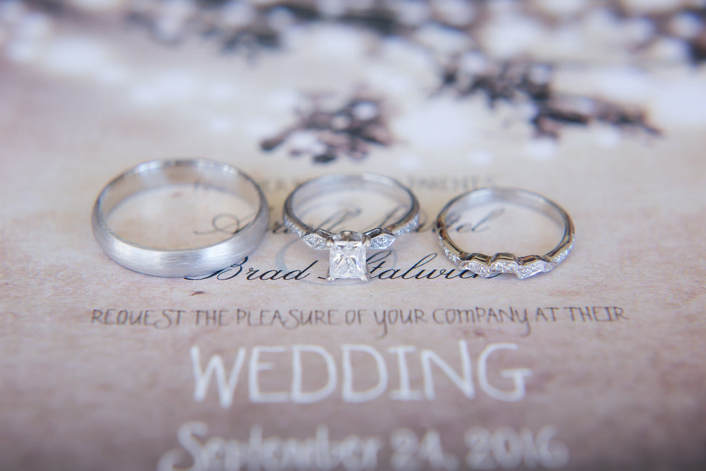 What a gorgeous styled photo of the wedding rings! | A Vintage Wedding At Sweet Pea Ranch | Kennedy Blue | Janelle Marina Photography