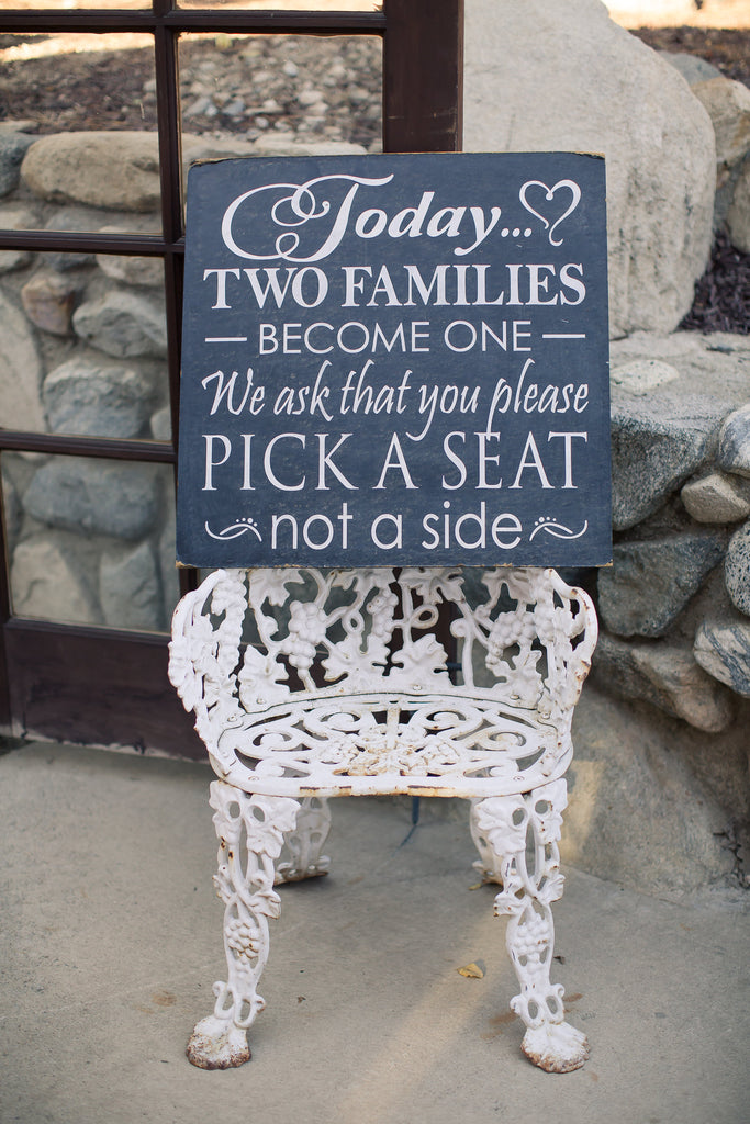 What a cute sign!What a cute wedding venue! | A Vintage Wedding At Sweet Pea Ranch | Kennedy Blue | Janelle Marina Photography