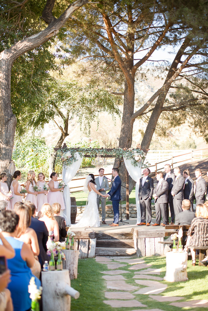 Bride and Groom about to get married! | A Vintage Wedding At Sweet Pea Ranch | Kennedy Blue | Janelle Marina Photography