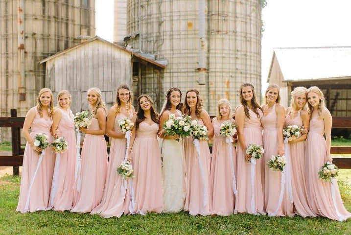 Rustic barnyard outdoor summer wedding featuring Kennedy Blue styles Stella, Anna, Olivia, Hannah, and Violet | 14 Fun Ideas for Your Dream Outdoor Wedding | Kennedy Blue