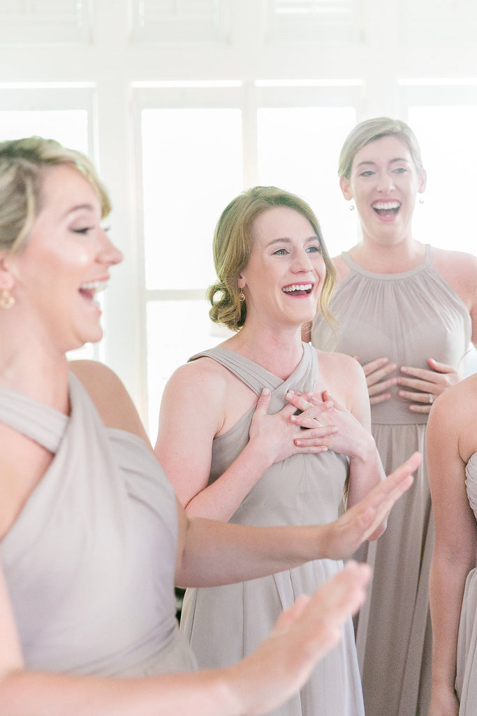 Bridesmaids smiling | 8 Things You're Doing Wrong While Bridesmaid Dress Shopping