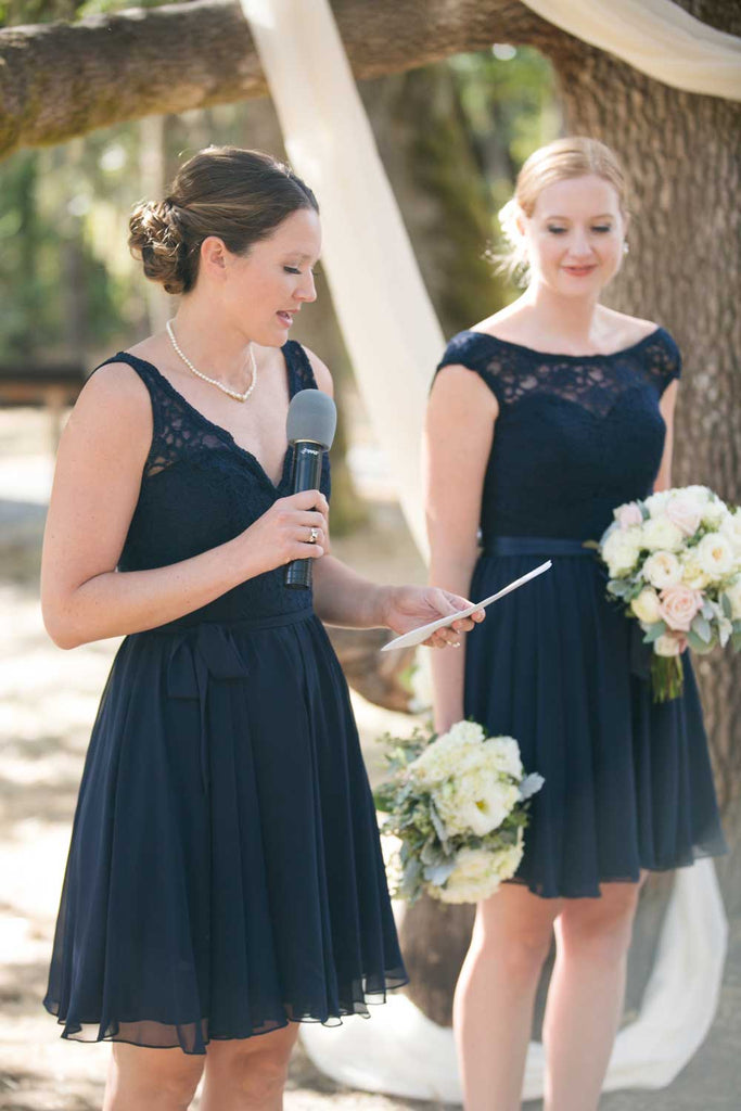 Lace-top bridesmaid dresses make a gorgeous statement!