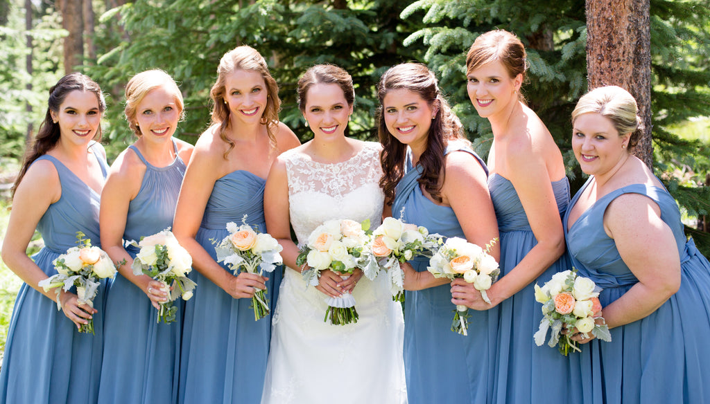 147b8b49f24 20 Slate Blue Bridesmaid Dresses Worth Obsessing Over – Kennedy Blue