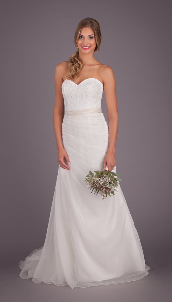 e9d54a12d0 Kennedy Blue Hailey. Cost   899. A Fit n Flare Lace and Organza Strapless Wedding  Dress