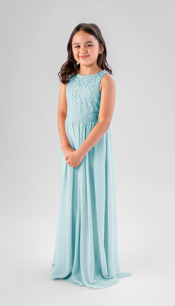 Keaton in Mint | Chiffon Junior Bridesmaid Dresses