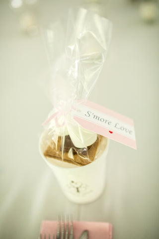 Create a personal s'mores kit as a favor for each of your guests!
