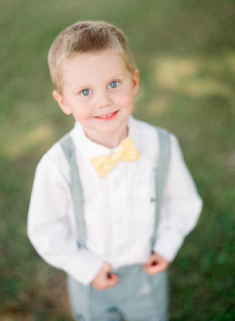 An adorable little ring bearer | A Country Chic Wedding With Stunning Vintage Details