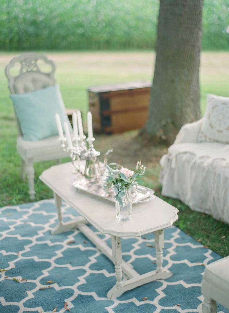 Vintage furniture peices for their decor | A Country Chic Wedding With Stunning Vintage Details
