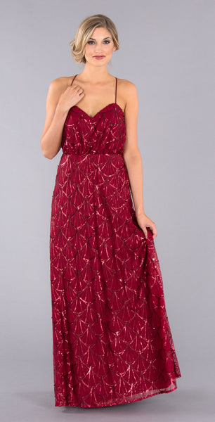 Ariel is a gorgeous wine and sequin bridesmaid dress from Kennedy Blue! | Kennedy Blue