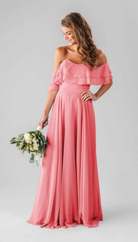Cantaloupe Kennedy Blue Bridesmaid Dress