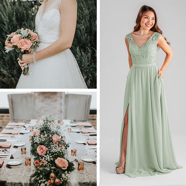 Kennedy Blue Bridesmaids Dresses Sage Green
