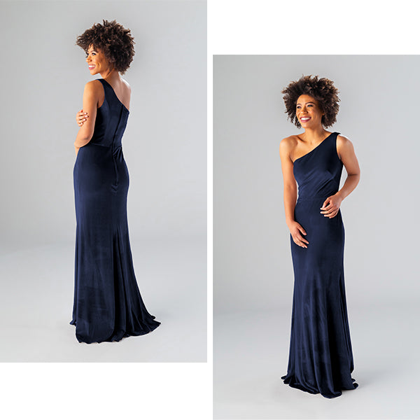 Kennedy Blue Velvet Bridesmaid Dress Style Keely Color Navy