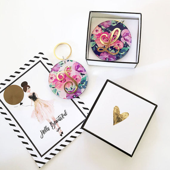 Monogram keychains are perfect bridesmaid 'thank you' gifts! | 24 Bridesmaid Gifts Your Girls Will Love! | Kennedy Blue | ModParty