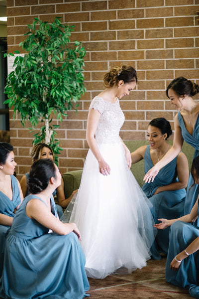 Bridesmaid dress shopping can be stressful, but it is totally worth it in the end | How to Make Bridesmaid Dress Shopping Less Stressful | Kennedy Blue