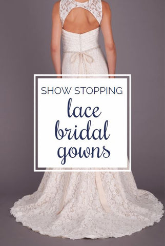 See our collection of STUNNING lace wedding dresses that are affordable, cute, and the best of the best! | Show Stopping Lace Bridal Gowns | Kennedy Blue