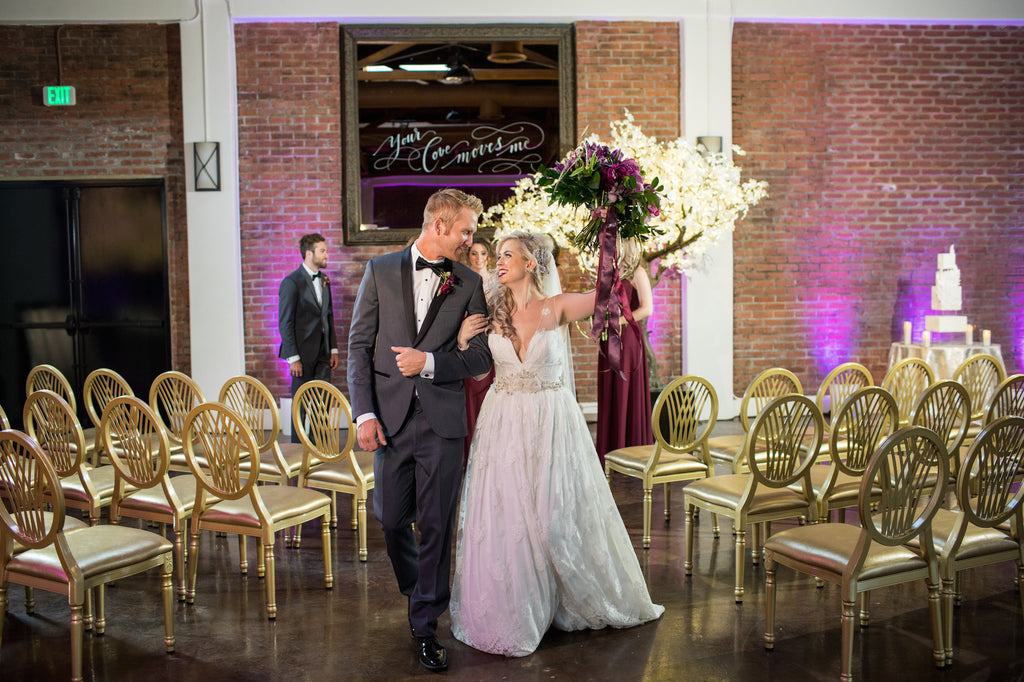 The bride and groom just married! | Love In Motion Styled Shoot | Kennedy Blue