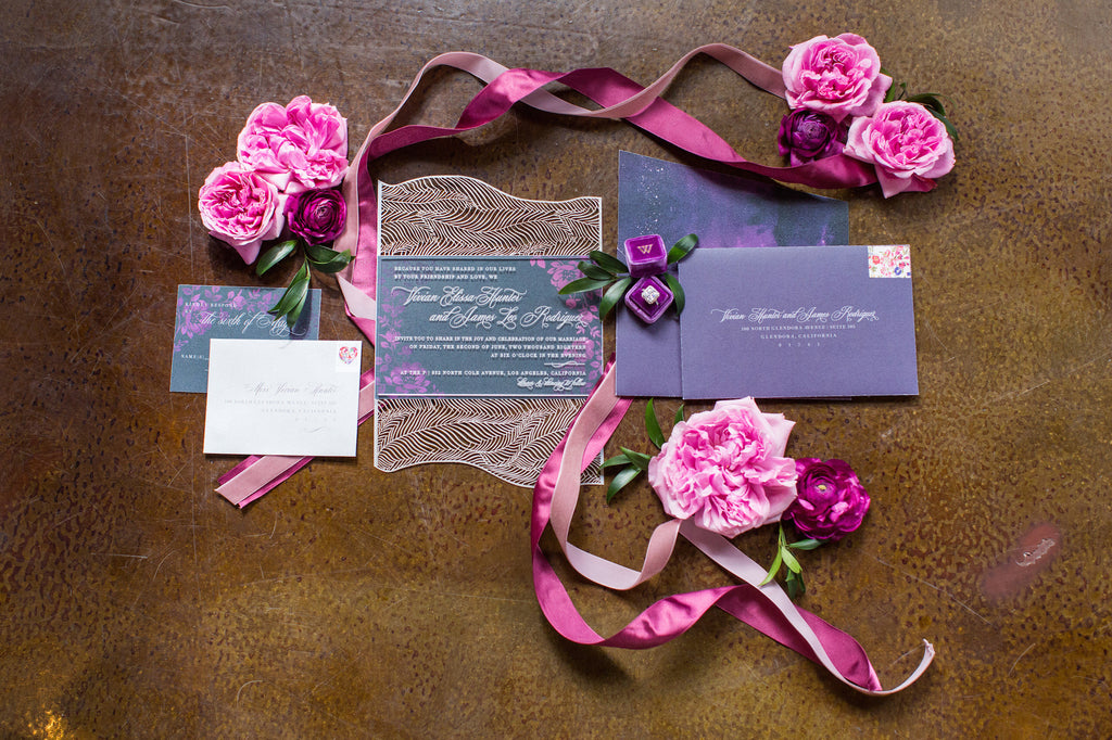 Look at this gorgeous wedding invitation! | Love In Motion Styled Shoot | Kennedy Blue