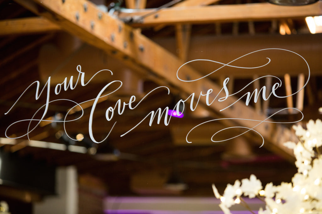 'Your Love Moves Me' mirror sing is so beautiful! | Love In Motion Styled Shoot | Kennedy Blue
