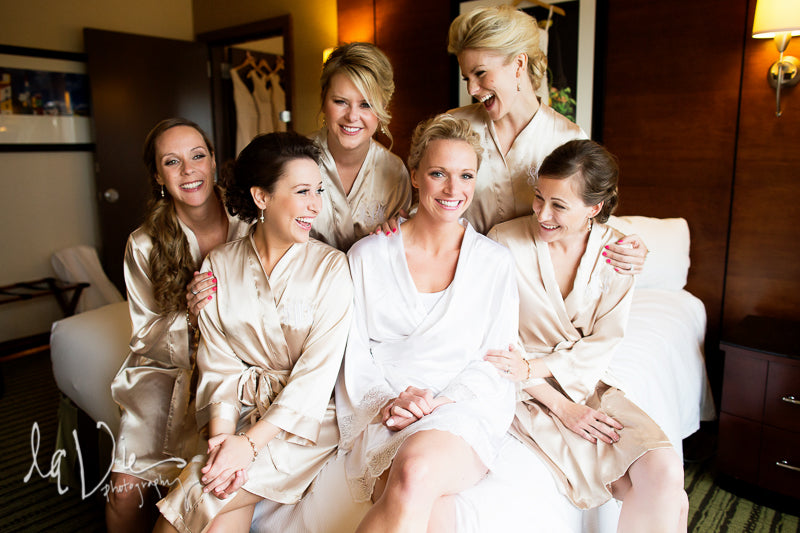 Fun robes make a great gift for bridesmaids! | A Simply Chic Wedding Day | Your Something Blue