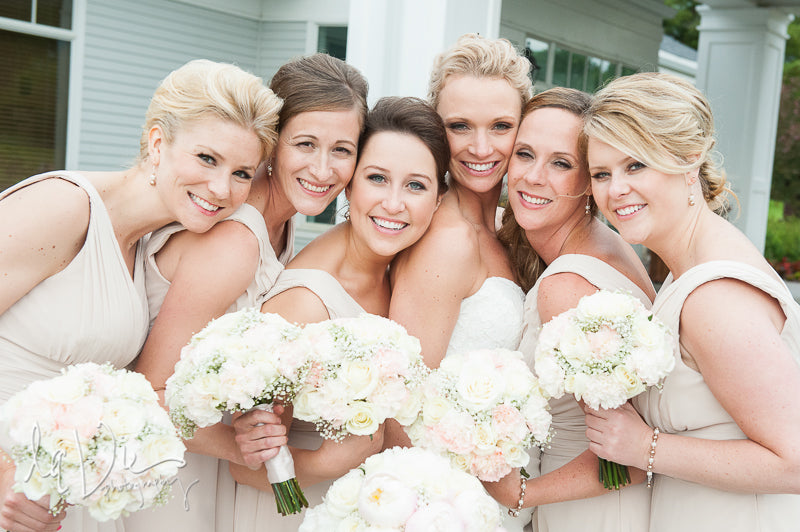 These bridesmaids are beautiful in blush! | A Simply Chic Wedding Day | Your Something Blue