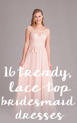 Trend-Setting, Lace-Top Bridesmaid Dresses