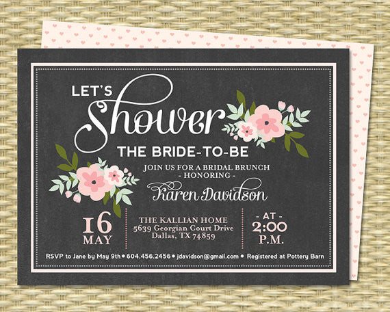 These 'Lets Shower The Bride-To-Be' bridal shower invitations are so cute and catchy! | 52 Awesome Bridal Shower Ideas | Kennedy Blue | SunshinePrintables