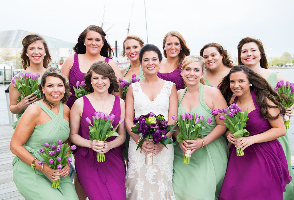 Cactus and Wine Bridesmaid Dresses