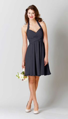 Kennedy Blue Bridesmaid Dress Lucy Charcoal