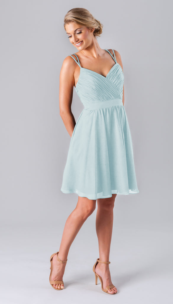 Kennedy Blue Short Chiffon Luella Bridesmaid Dress in Mint