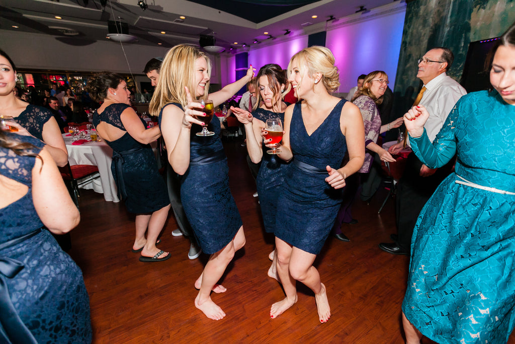 Cute photo of bridesmaids dancing! | 26 Photos To Take With Your 'Maids | Kennedy Blue | Maria Linz Photography