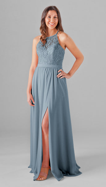 Kennedy Blue slate blue Madeline dress is gorgeous! | 18 Slate Blue Bridesmaid Dresses Worth Obsessing Over | Kennedy Blue