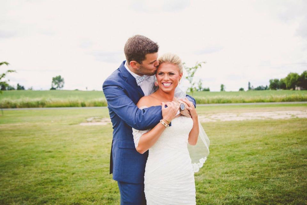 Bride and Groom | Wisconsin Country Wedding | Kennedy Blue