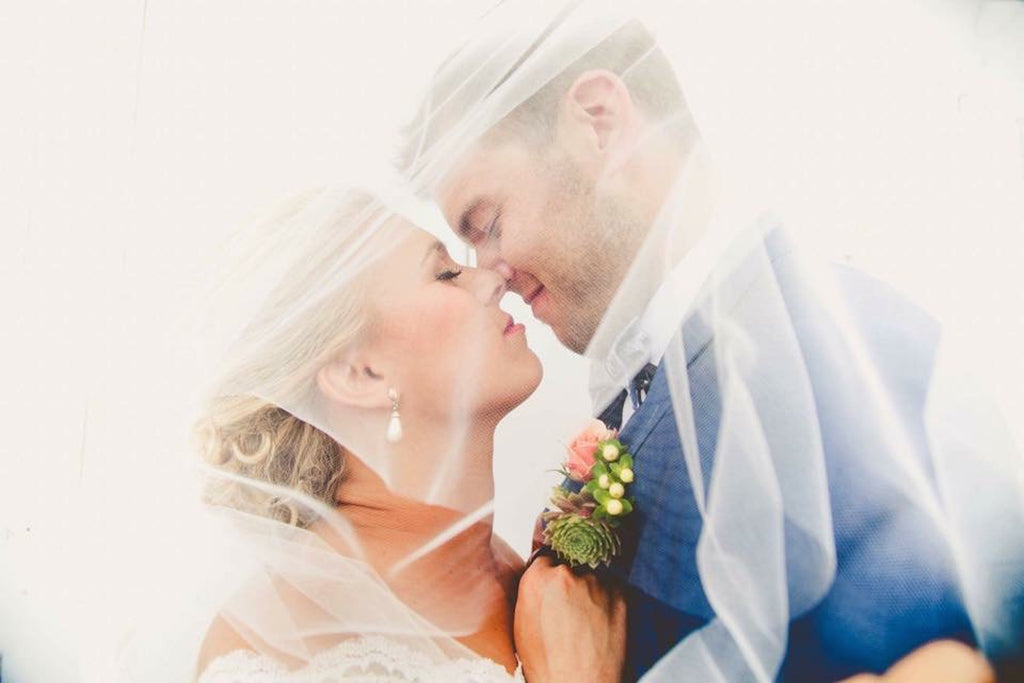 Bride and Groom close up  | Wisconsin Country Wedding | Kennedy Blue