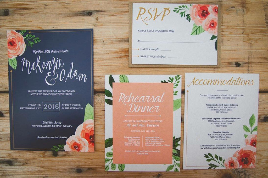 Invitations | Wisconsin Country Wedding | Kennedy Blue